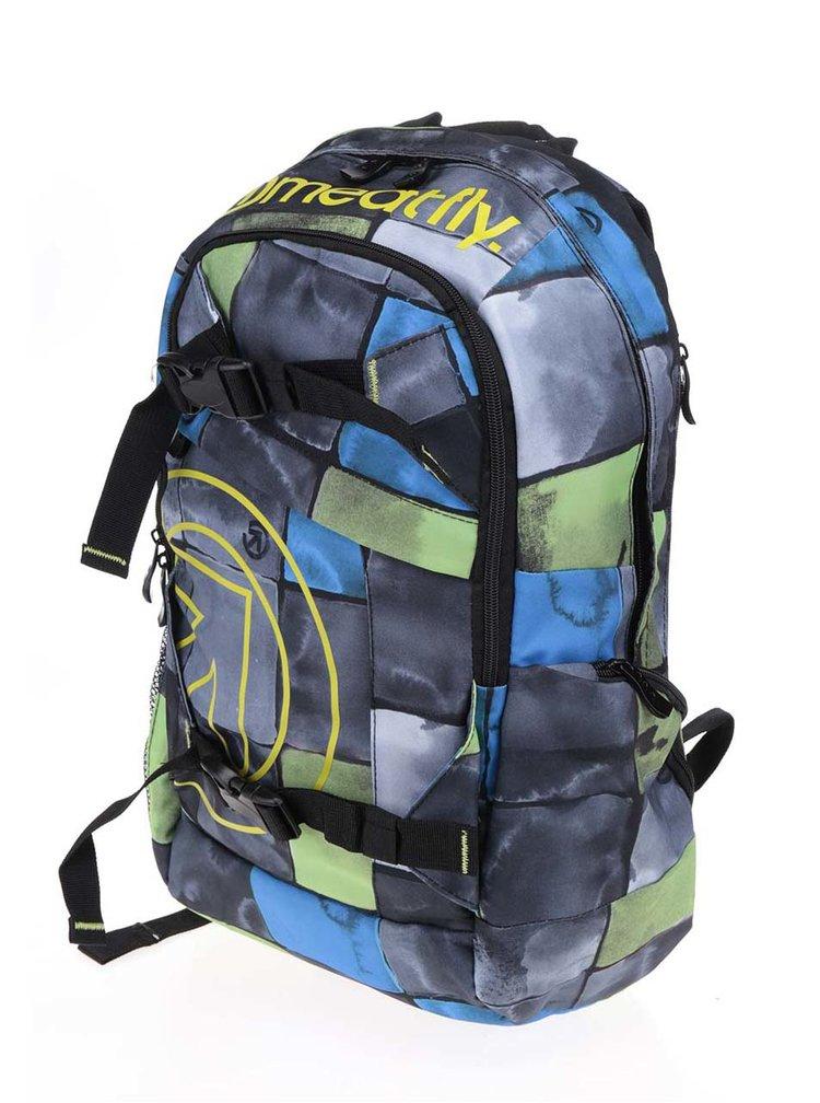 Rucsac albastru & gri unisex MEATFLY Basejumper 20 l cu model