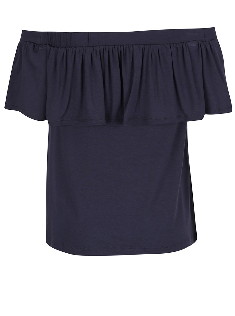 Tricou bleumarin VILA Foma cu decolteu pe umeri