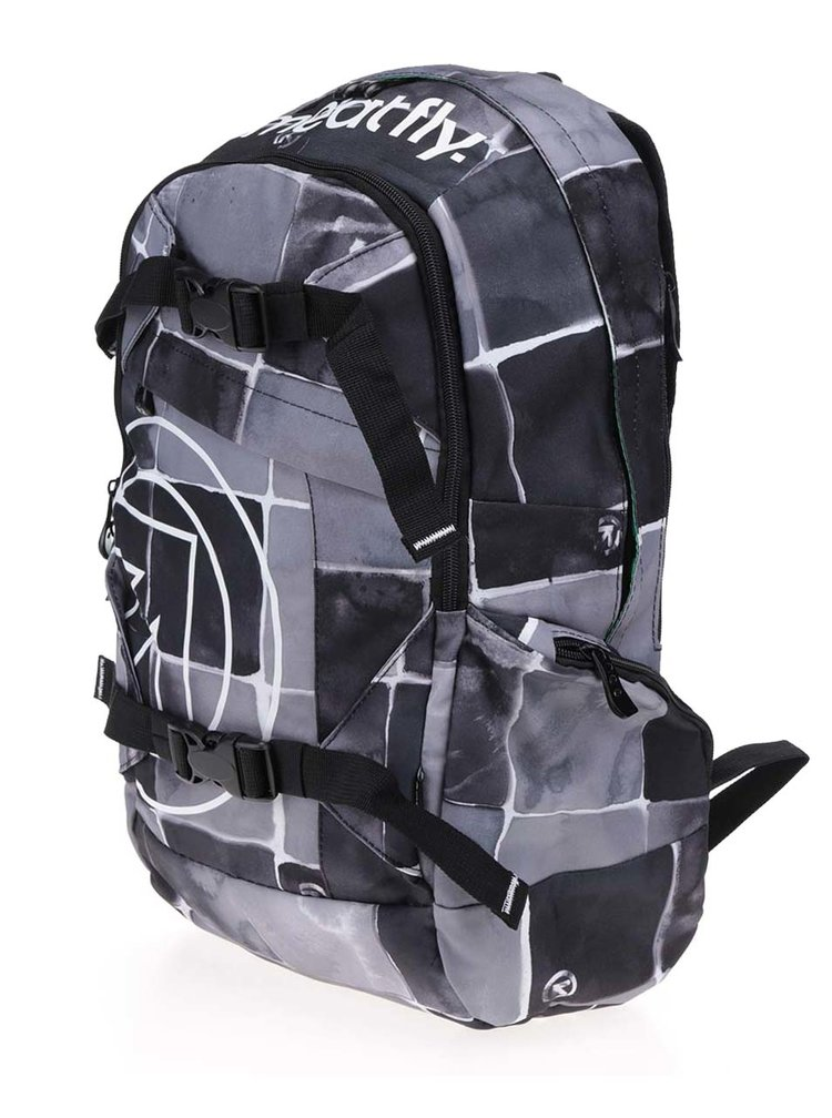 Černo-šedý unisex batoh Meatfly Basejumper 20 l
