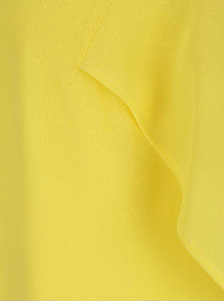 Rochie galbenă VILA Magile Off cu mâneci căzute