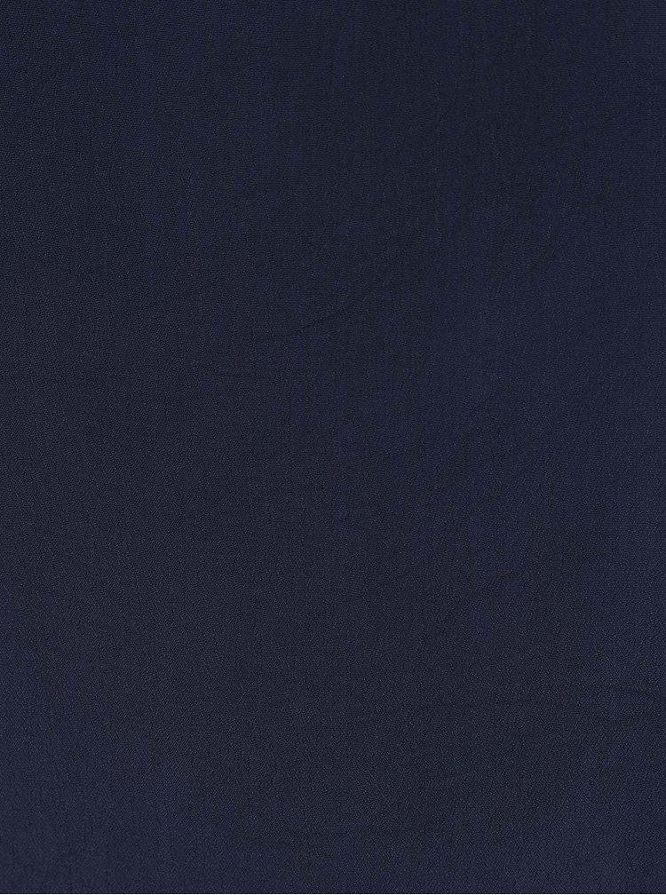 Tmavě modré volné šaty s tenkými ramínky VILA Loha