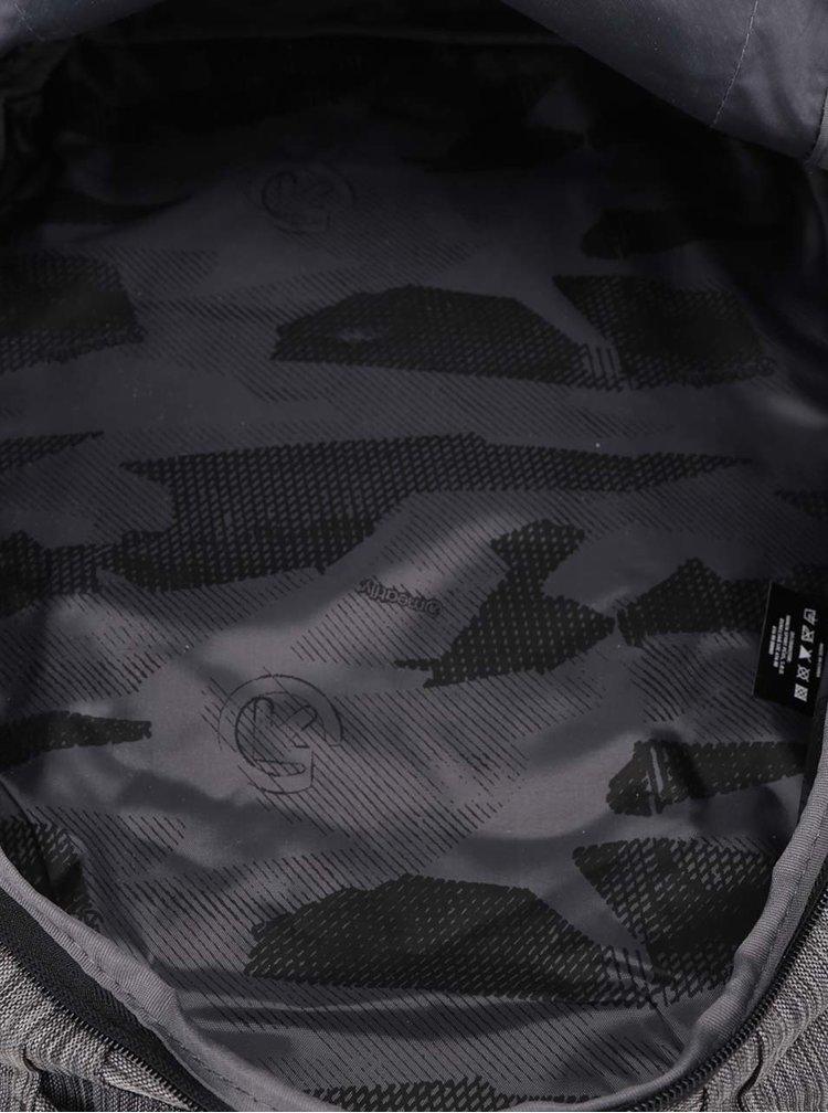 Šedý žíhaný unisex batoh Meatfly Mirage 28 l
