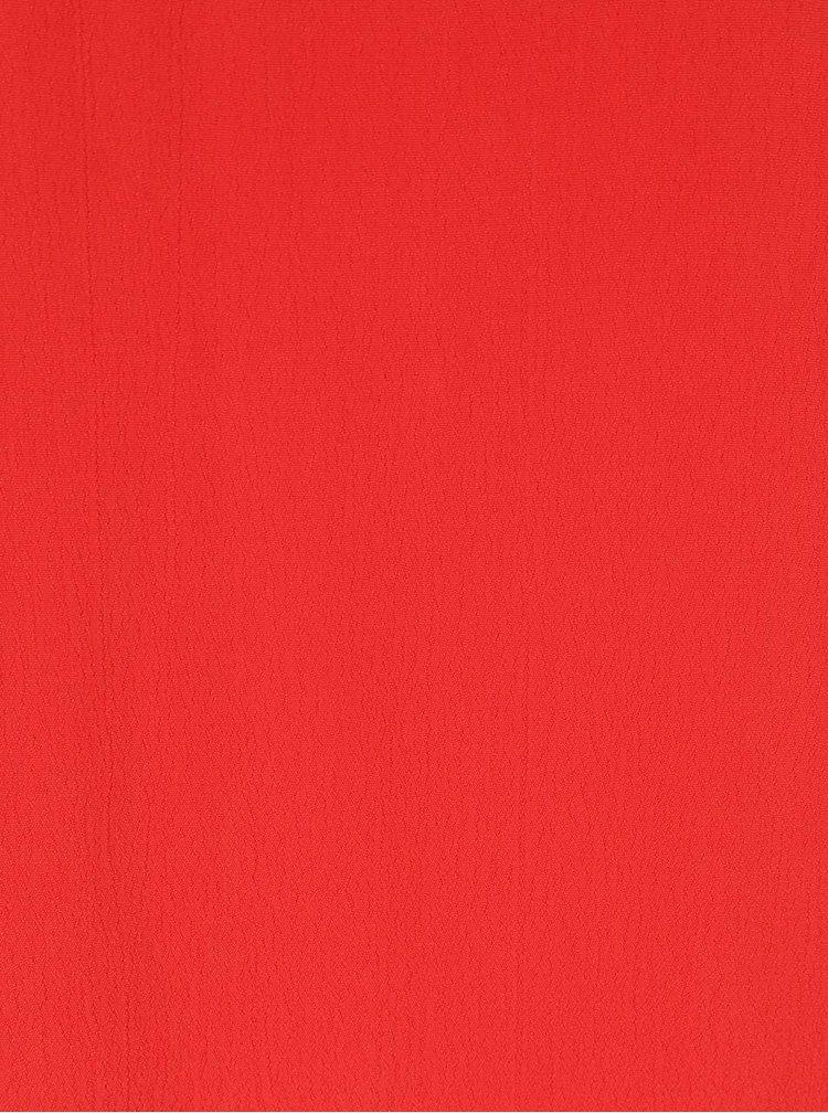 Rochie rosie VILA Loha cu bretele subtiri