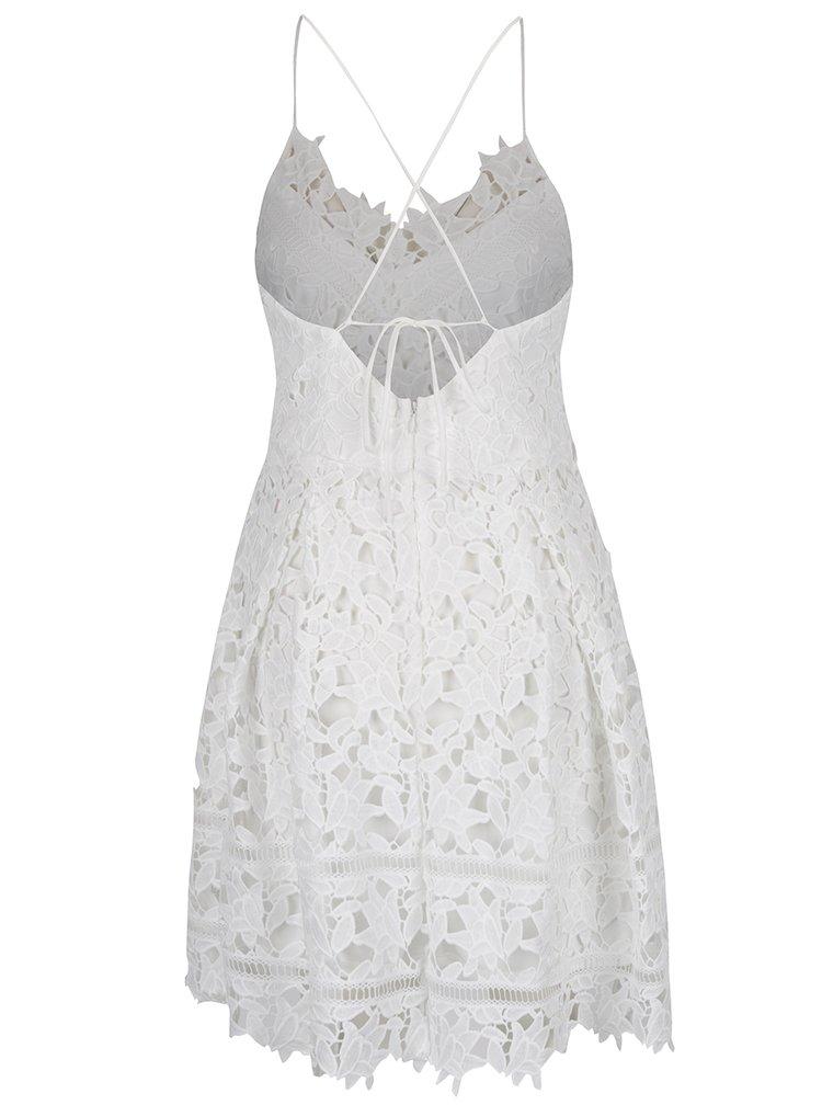 Krémové krajkové šaty VILA Clarna
