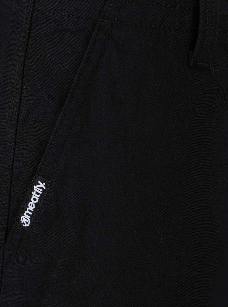 Pantaloni scurti negri MEATFLY Icon din bumbac