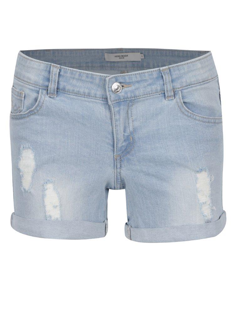 Pantaloni scurti albastru deschis VERO MODA Be Five din denim