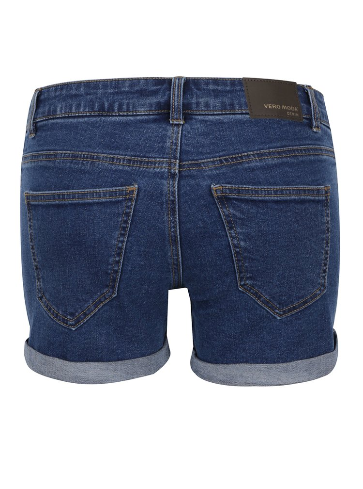 Pantaloni scurți albaștri VERO MODA Be Five din denim