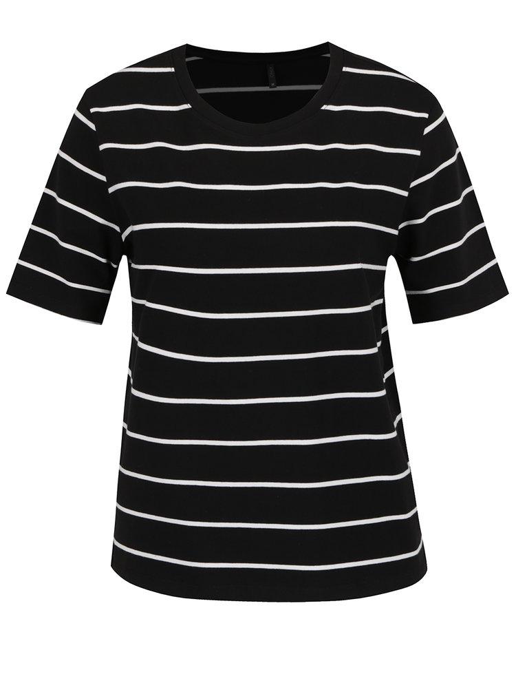 Tricou negru cu dungi  albe - ONLY Live Love