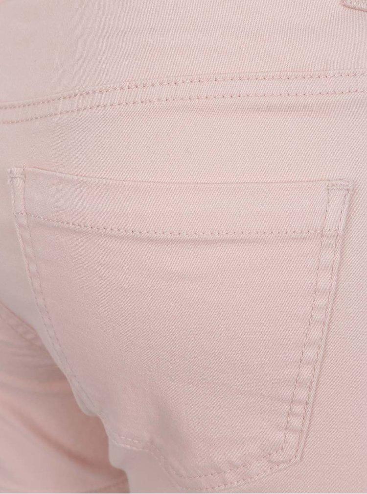 Pantaloni scurți roz pal VERO MODA Five din denim