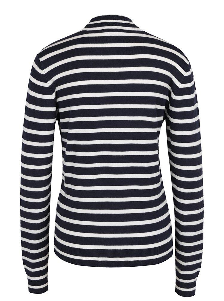 Bluză albastru închis  VERO MODA Glora cu model în dungi