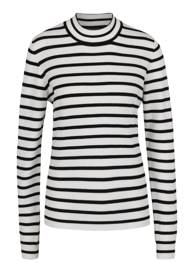 Bluză albă  VERO MODA Glora cu model în dungi