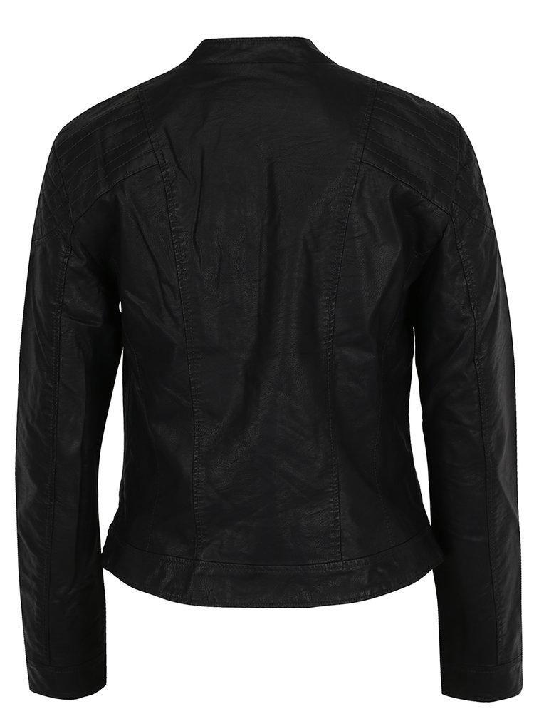 Jachetă neagră VERO MODA Mira din piele sintetică