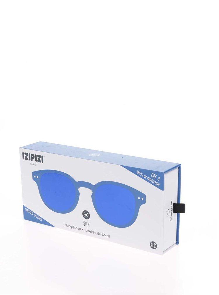 Modré unisex sluneční brýle se zrcadlovými modrými skly IZIPIZI #C