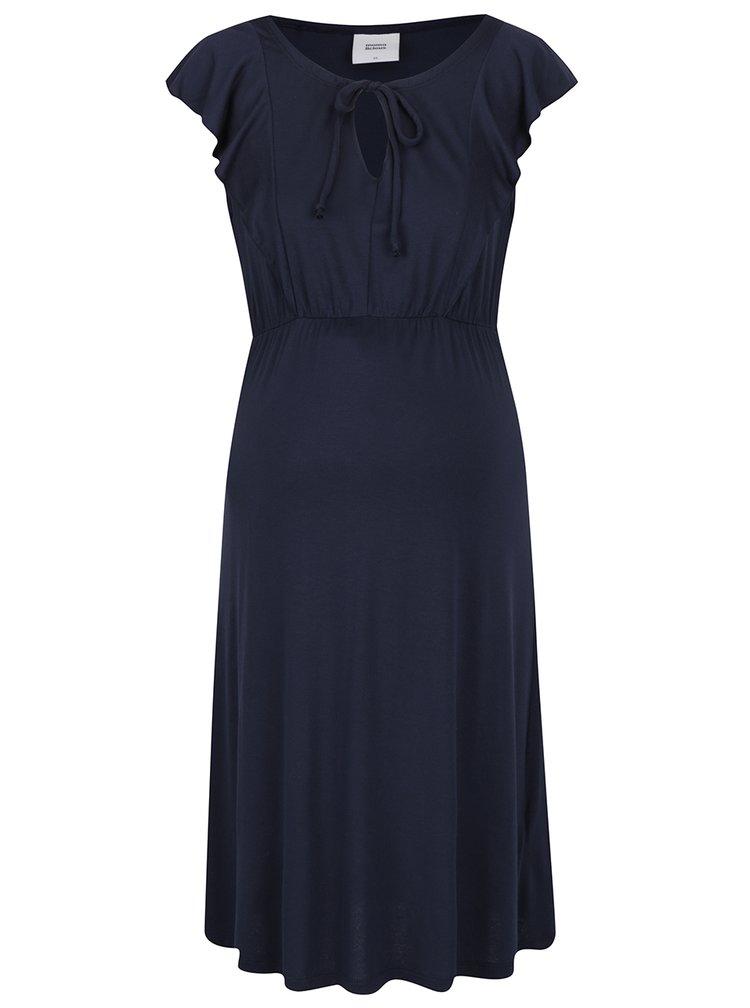 Tmavě modré těhotenské šaty Mama.licious Hanya