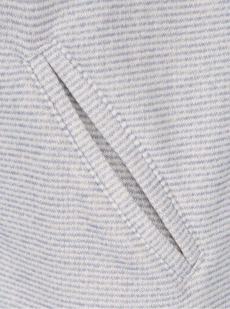 Krémovo-modré pruhované sako s 3/4 rukávem ONLY Hanna