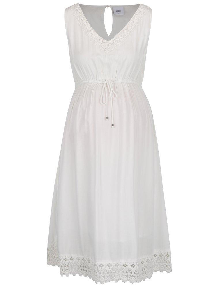 Rochie albă Mama.licious Gelina cu aplicații