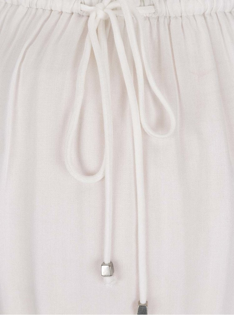 Bílé těhotenské šaty se zdobením Mama.licious Gelina