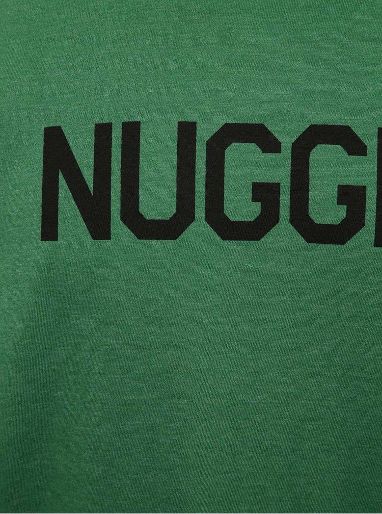 Zelené pánské tričko s potiskem NUGGET Logo