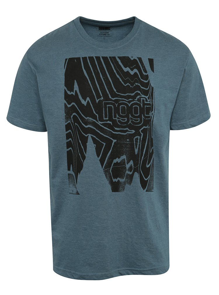 Modré pánské triko s potiskem NUGGET Anomaly