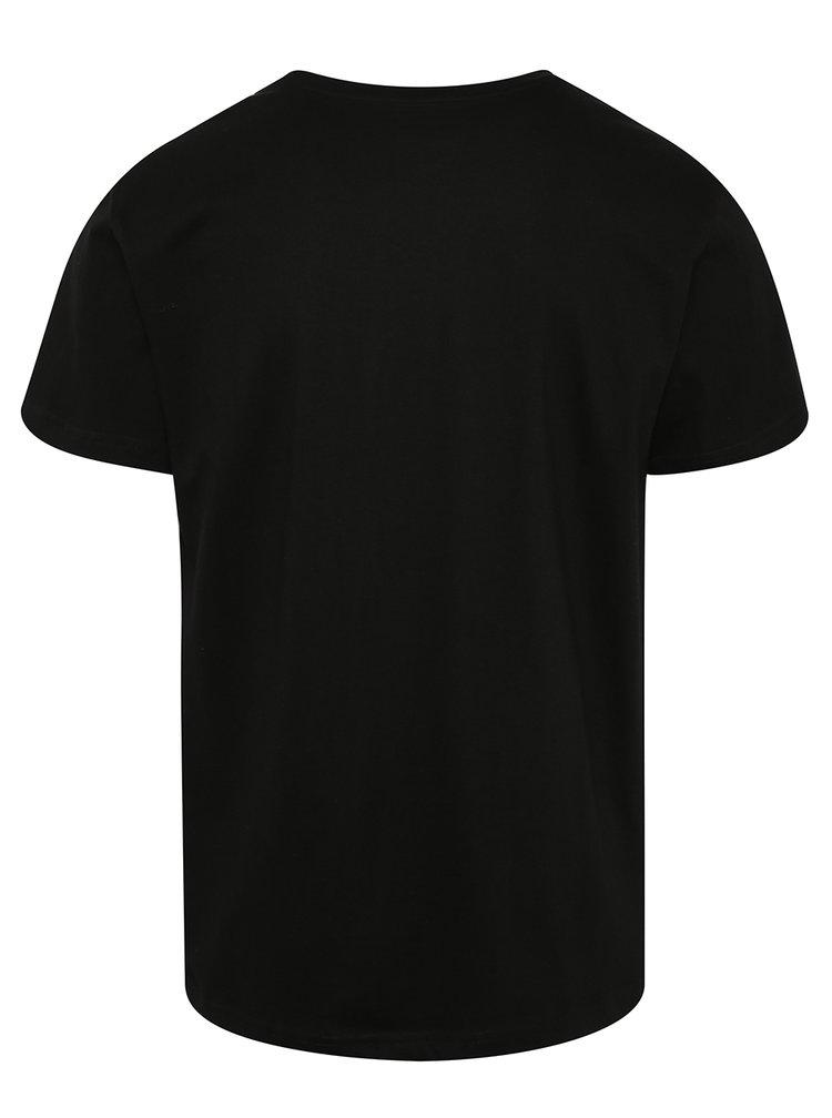 Černé pánské triko s potiskem NUGGET Anomaly