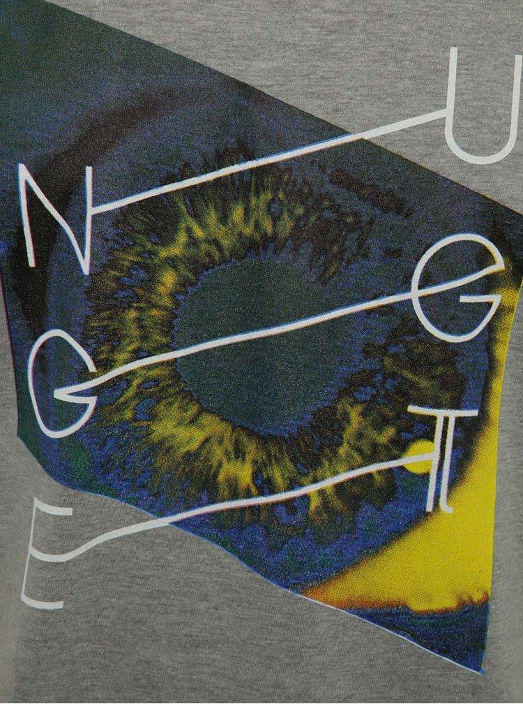 Tricou gri cu print NUGGET Chrono pentru bărbați