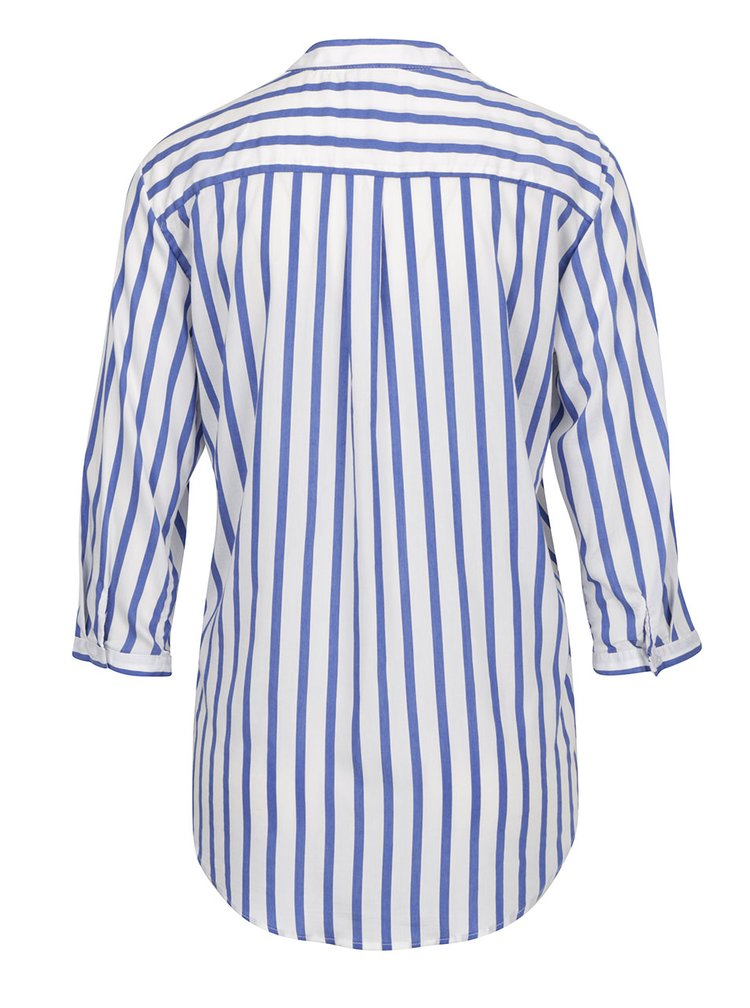 Modro-bílá pruhovaná halenka s kapsami VERO MODA Erika