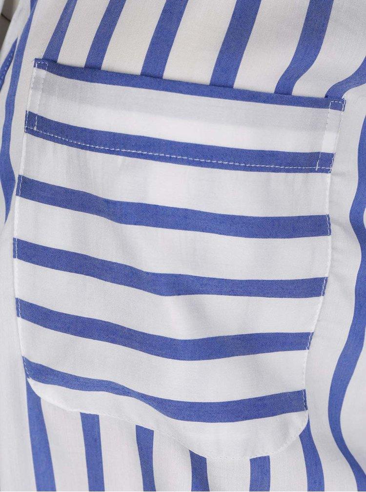 Cămașă albastru&alb VERO MODA Erika cu model în dungi