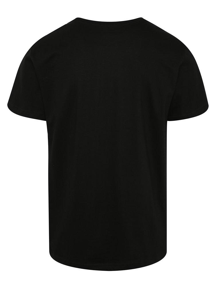 Černé pánské triko s potiskem NUGGET Emptiness