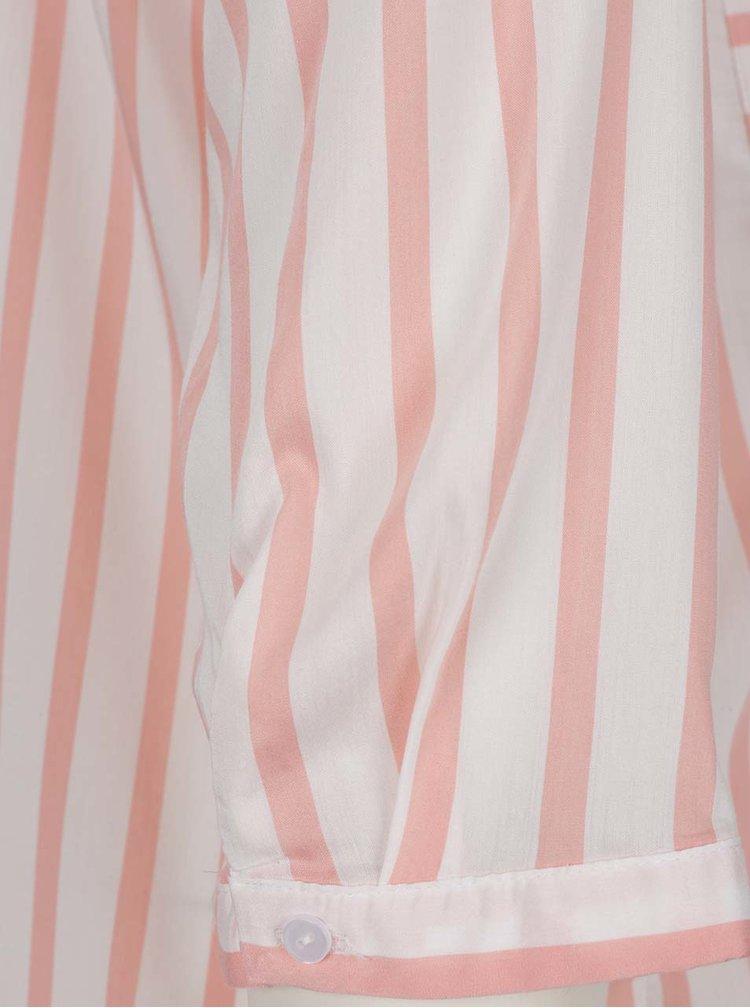 Oranžovo-bílá pruhovaná halenka s kapsami VERO MODA Erika