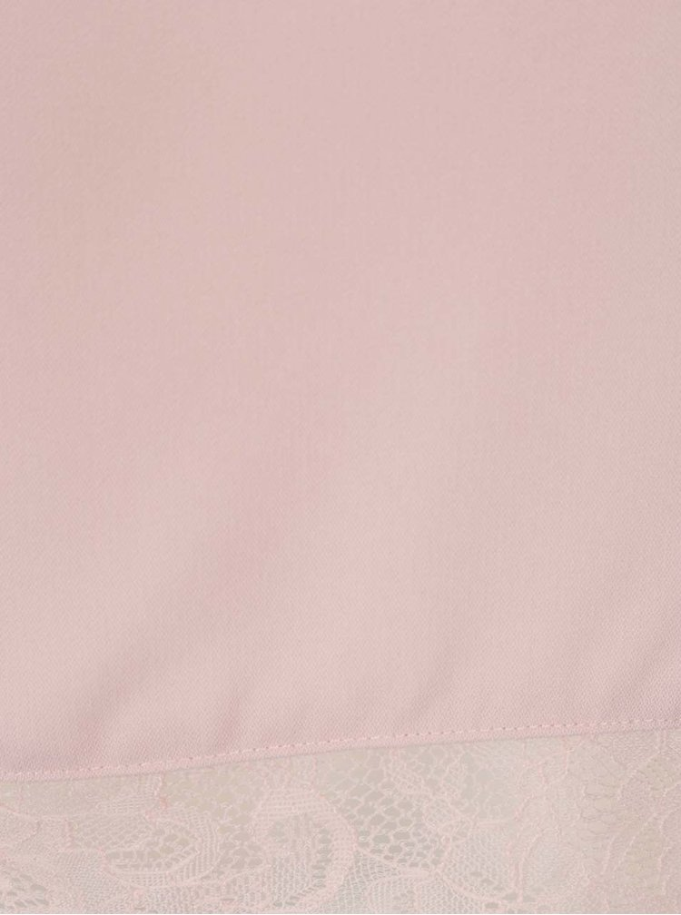 Starorůžová halenka s krajkovým sedlem ONLY Lin