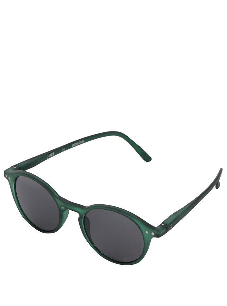 Zelené unisex sluneční brýle s černými skly IZIPIZI #D