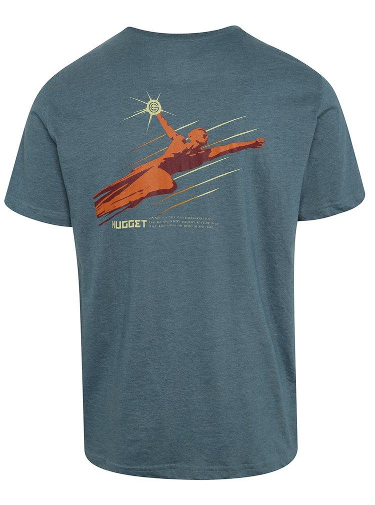 Tricou albastru cu print NUGGET Aeronaut pentru bărbați