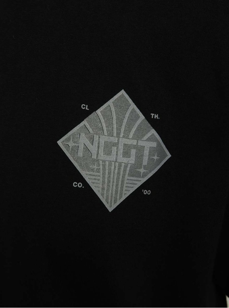 Černé pánské triko s jemným potiskem NUGGET Aeronaut
