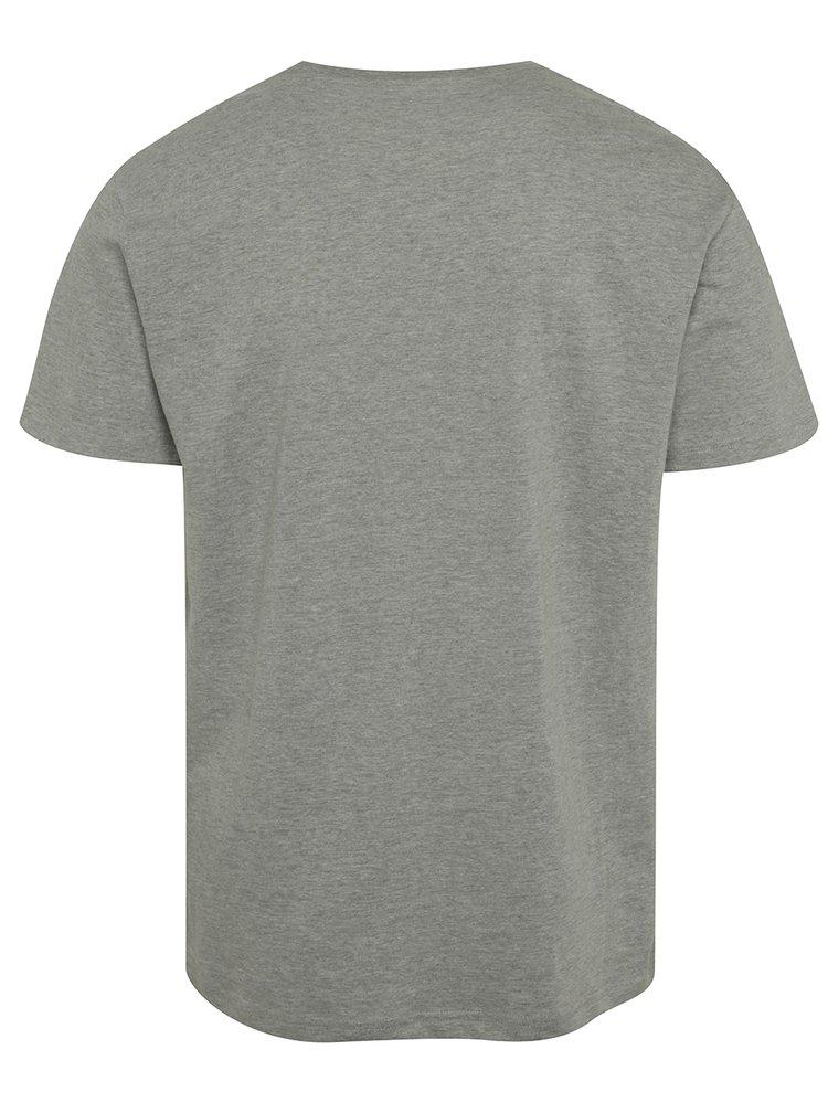 Tricou gri cu print NUGGET Void pentru bărbați