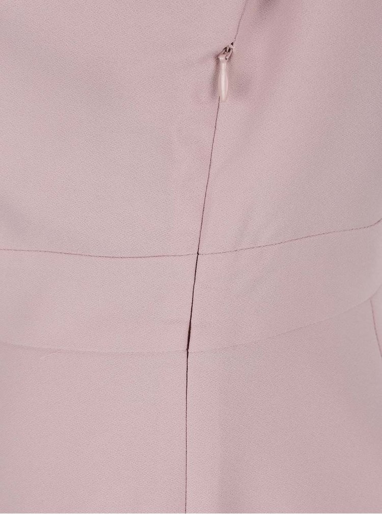 Rochie roz prăfuit  Selected Femme New Smile cu șliț pe partea din față
