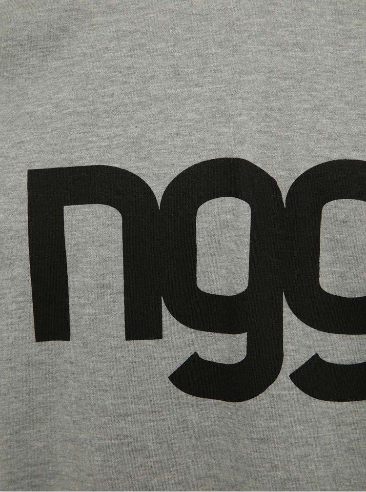 Zeleno-šedé pánské tričko s potiskem NUGGET Asset