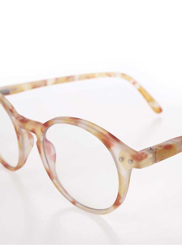 Žluto-hnědé vzorované unisex ochranné brýle k PC IZIPIZI #D