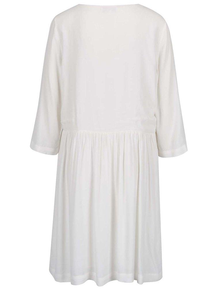 Bílé šaty s dlouhým rukávem Selected Femme Kary