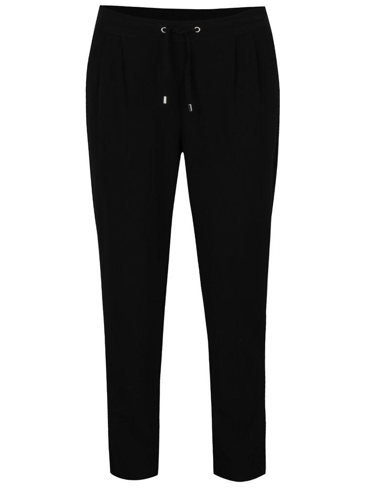 Černé kalhoty s gumou v pase ONLY Lina