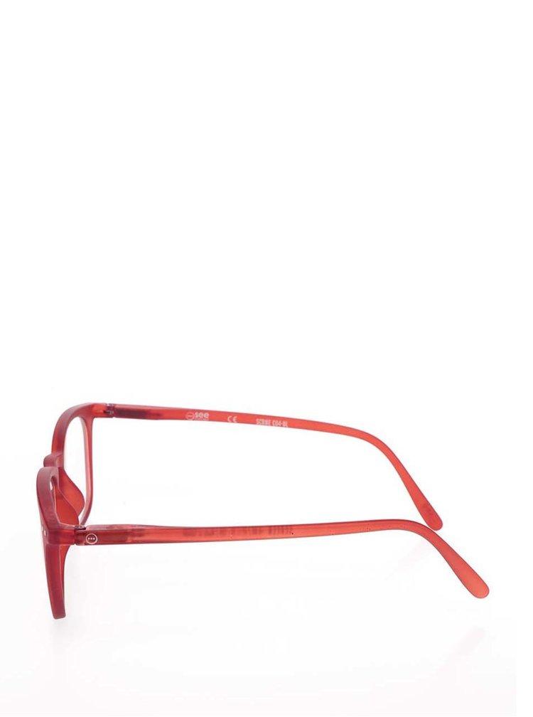 Červené unisex ochranné brýle k PC  IZIPIZI #E