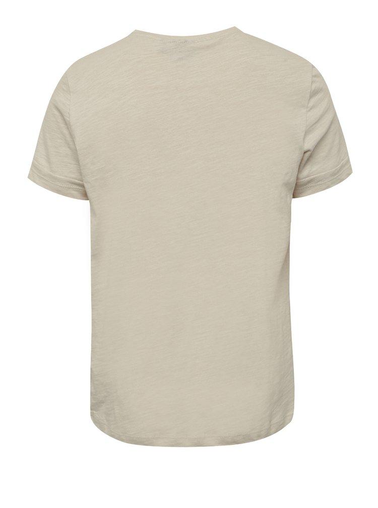 Krémové klučičí triko s potiskem LIMITED by name it Noise