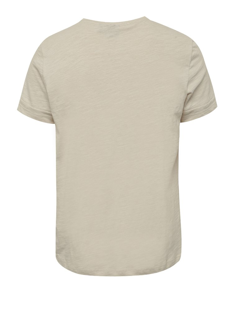 Tricou crem cu print LIMITED by name it Noise pentru băieți
