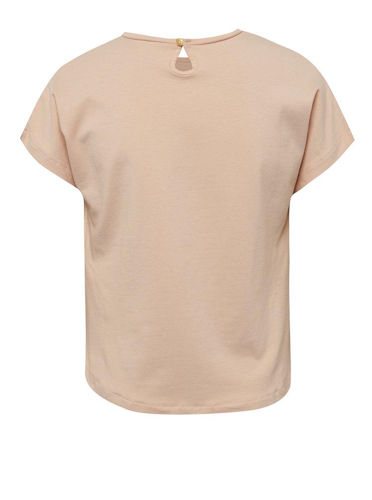 Tricou roz cu print LIMITED by name it Sama pentru fete
