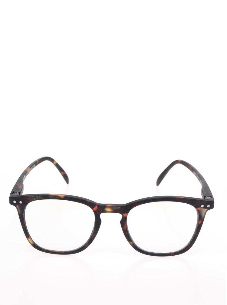 Černo-hnědé vzorované ochranné brýle k PC  IZIPIZI #E