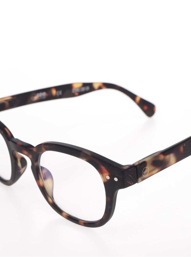 Hnedo-čierne unisex ochranné okuliare k PC IZIPIZI #C