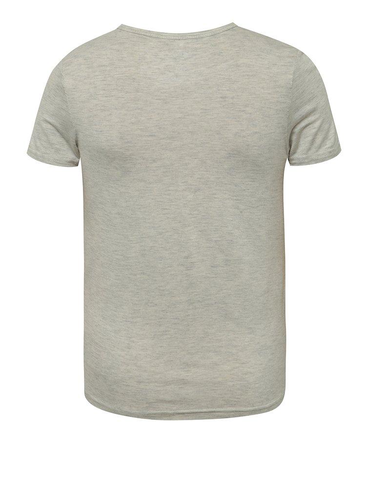 Tricou gri cu print LIMITED by name it Nuni pentru fete