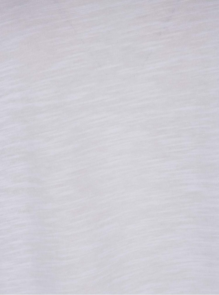 Bílé volné tričko Noisy May Abia