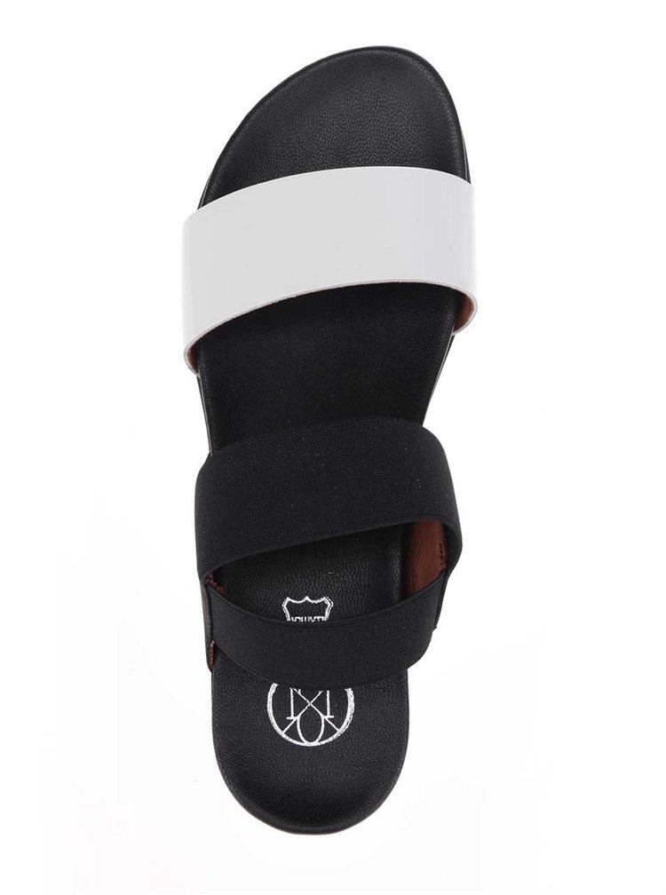Bílo-černé dámské sandály OJJU
