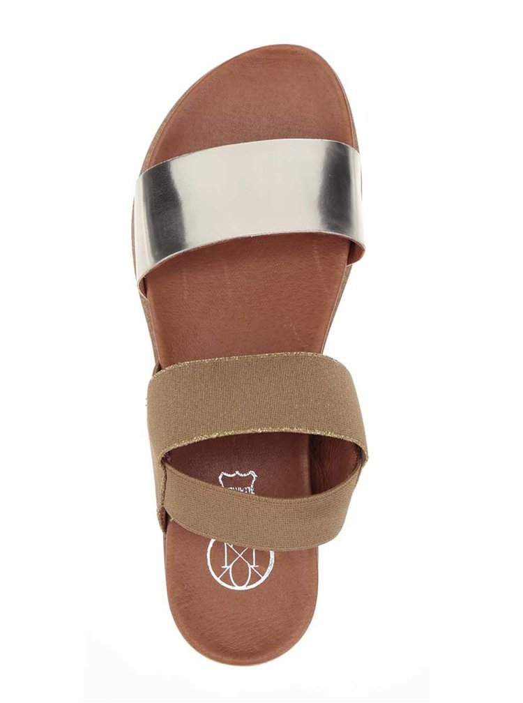 Dámské sandály ve zlato-hnědé barvě OJJU
