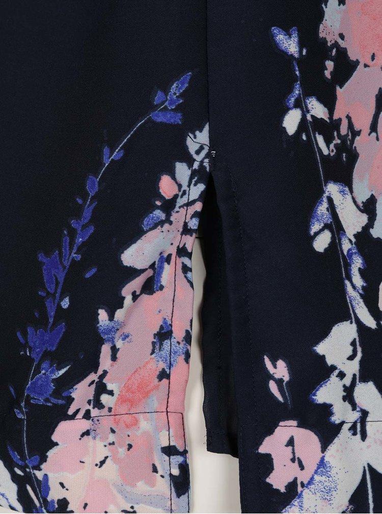 Top bleumarin VERO MODA Kana cu imprimeu floral